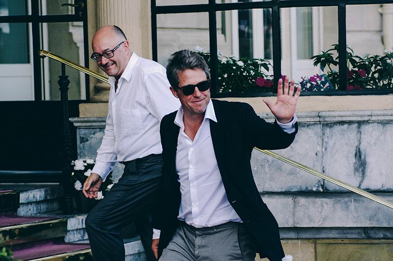 Hugh Grant llegando al hotel María Cristina. // Foto: Santiago Farizano