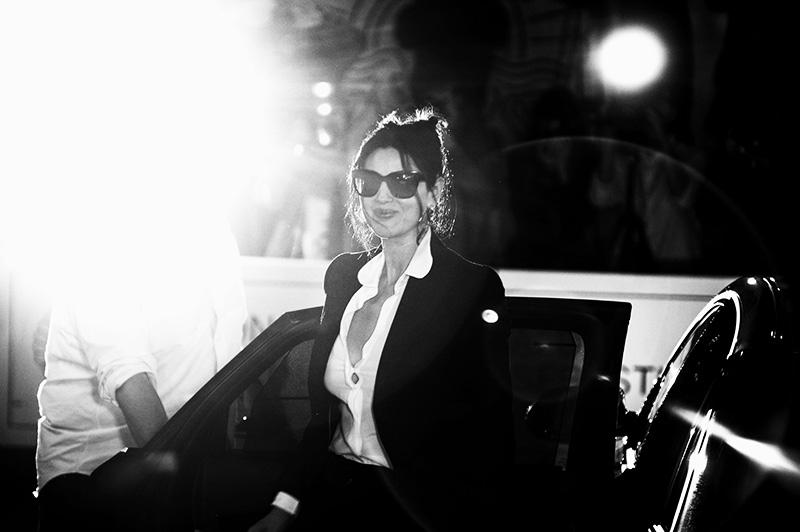 Mónica Bellucci, a su llegada a Donosti. // Foto: Santiago Farizano