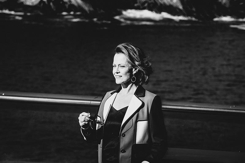 Sigourney Weaver, esta mañana en el Paseo Nuevo. // Foto: Santiago Farizano
