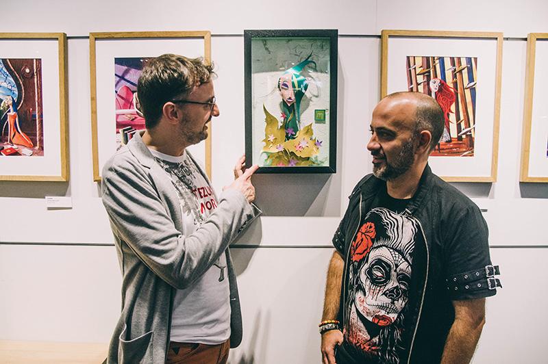 El director de la Semana, Josemi Beltrán, y Fernando Mircala. Foto: Santiago Farizano