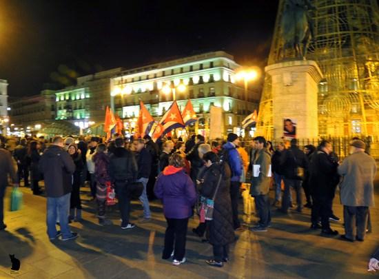 Concentración el pasado enero de Facre en la Puerta del Sol. Foto: Facre.
