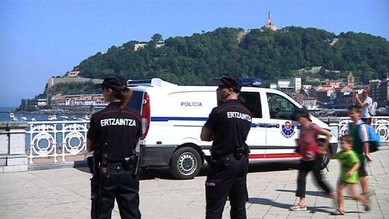 Ertzaintza de vigilancia. Foto de archivo: Gobierno vasco