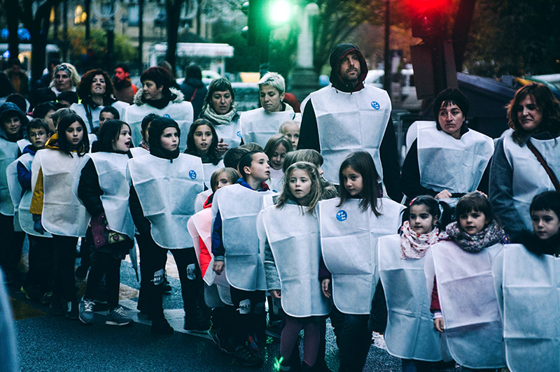 Una de las marchas organizadas en contra de la incineradora. Foto: Santiago Farizano