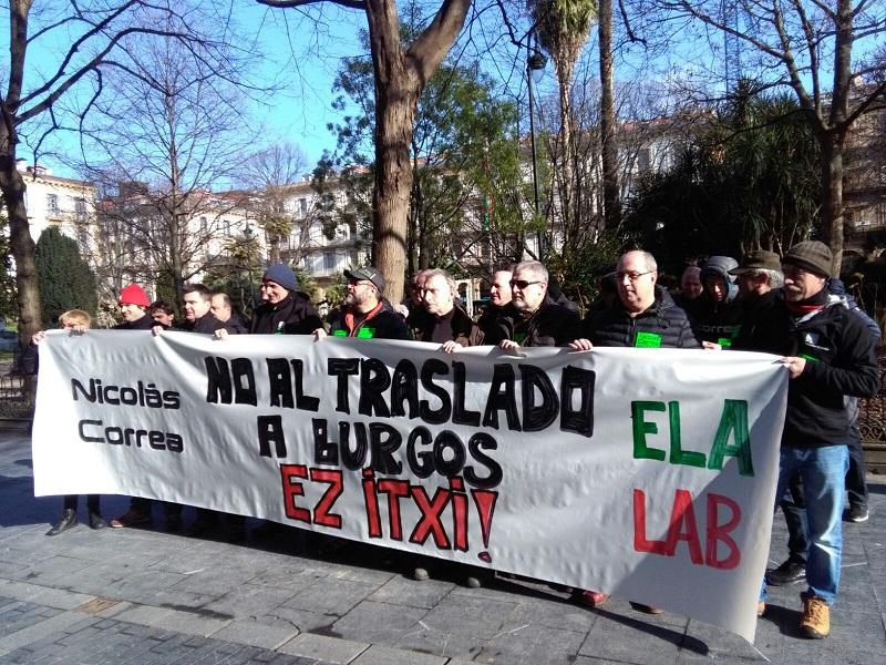 Una de las recientes movilizaciones de la plantilla de Nicolás Correa. Foto: A.E.