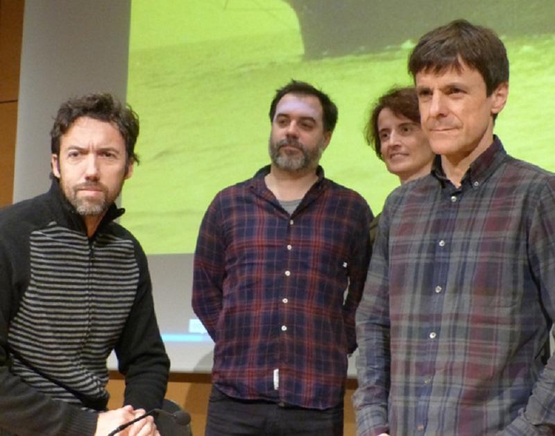 El director de la película y los autores de la banda sonora. Foto: Diputación.