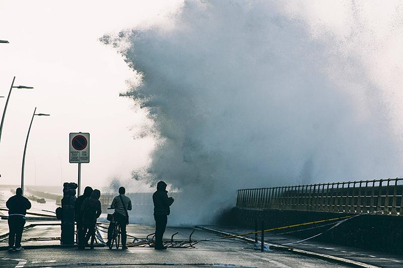 Imagen de uno de los últimos temporales. Foto: Santiago Farizano