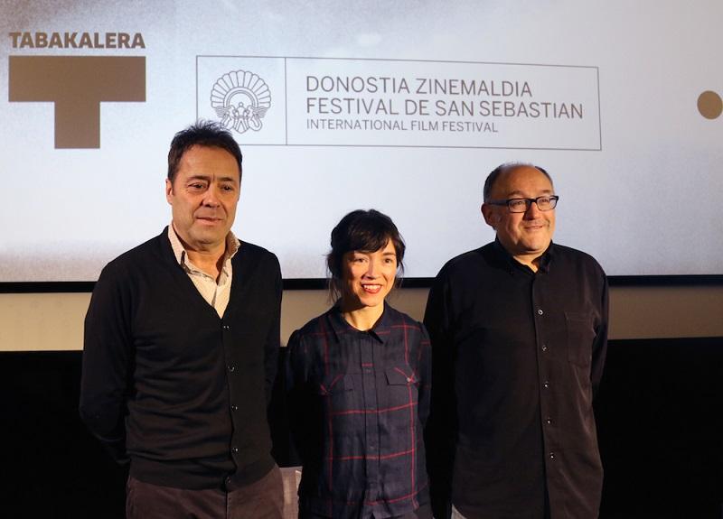Ane Rodríguez Armendariz, José Luis Rebordinos y José Luis Rubio. Foto: Tabakalera