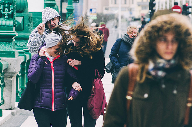 Viento en Donostia. Imagen de archivo. Foto: Santiago Farizano