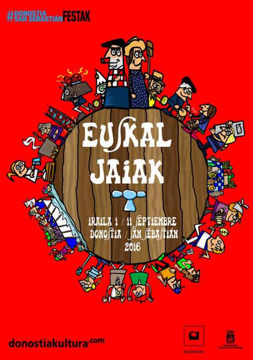 Cartel anunciador de Euskal Jaiak en 2016
