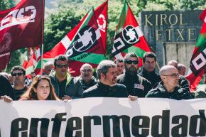 Manifestación, hoy, entre Anoeta y Riberas. Foto: Santiago Farizano