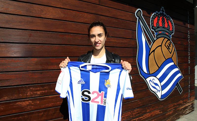 Nahikari García, jugadora del equipo femenino de la Real Sociedad. Foto: R.S.