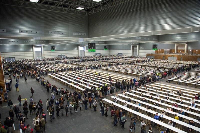 Imagen de archivo de unas oposiciones del Gobierno vasco.