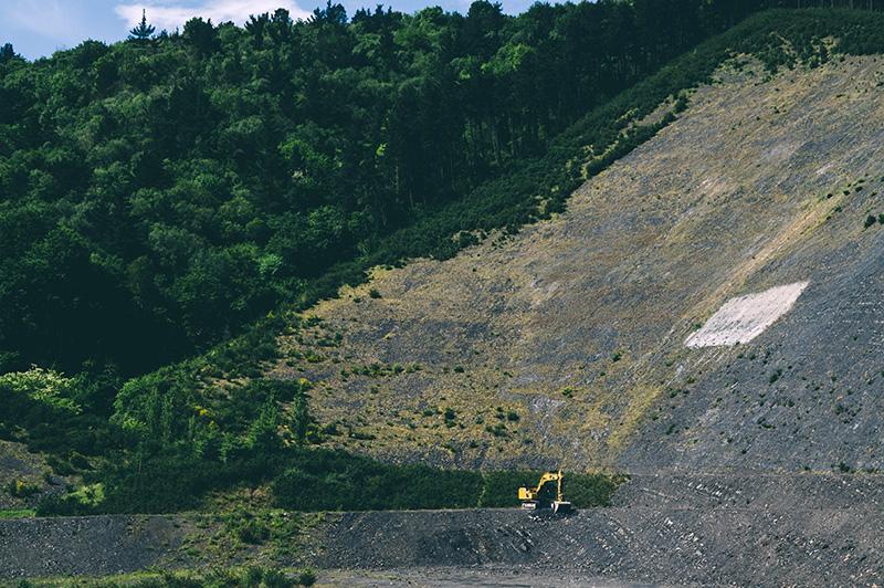 Inicio de las obras de la incineradora de Zubieta. Foto: Santiago Farizano