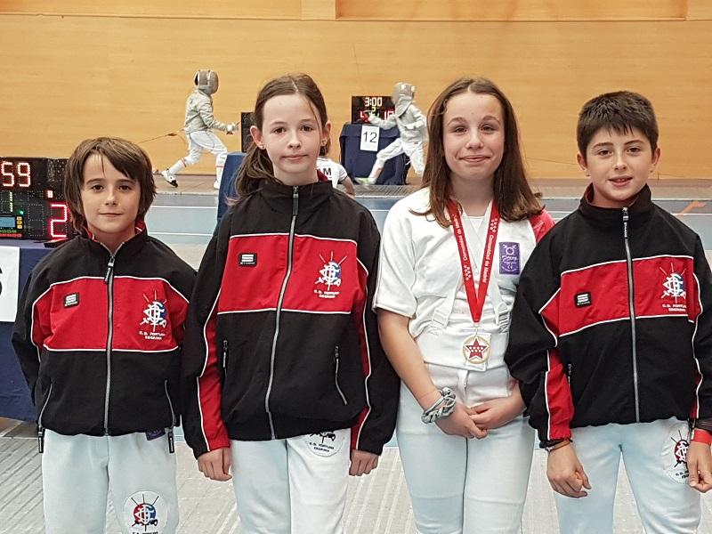 Xabier Gutiérrez, Mirari Dueñas, Marina Otaegui y Euken Fernández. Foto:  CD Fortuna