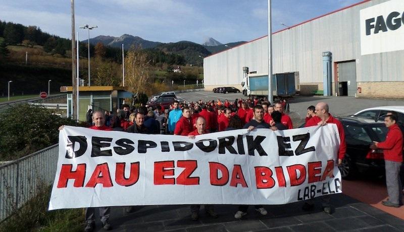 Imagen de pasadas movilizaciones en Fagor CNA. Foto: LAB