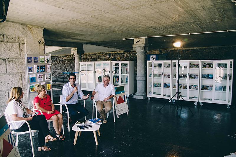 Día de la inauguración de la Eguzkiteka. Foto: Santiago Farizano