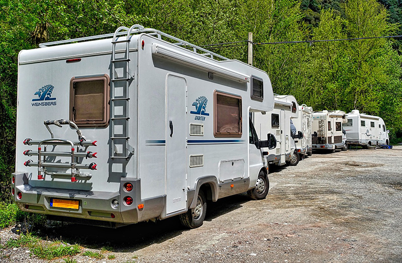 Parking de autocaravanas.