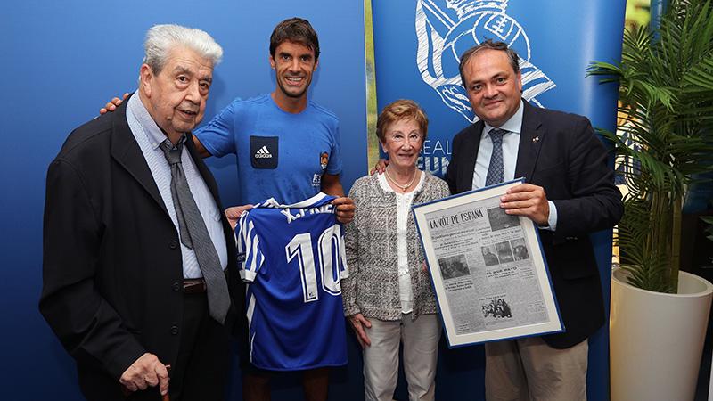 Ramón A. Sistiaga Cogollor. 75 años como socio. Foto: Real Sociedad