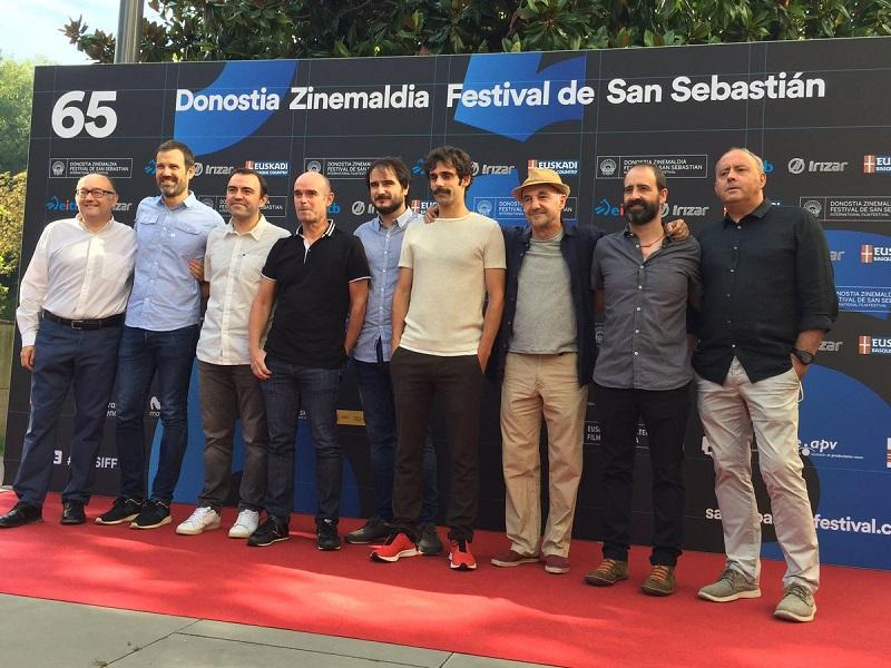 Parte del equipo de 'Handia', que competirá en la sección oficial. Foto: Zinemaldia