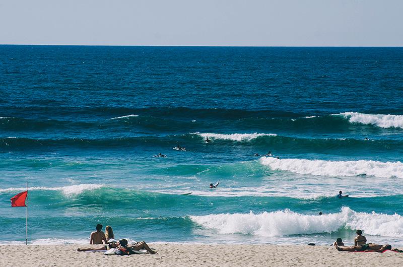 Playa de la Zurriola. Foto: Santiago Farizano