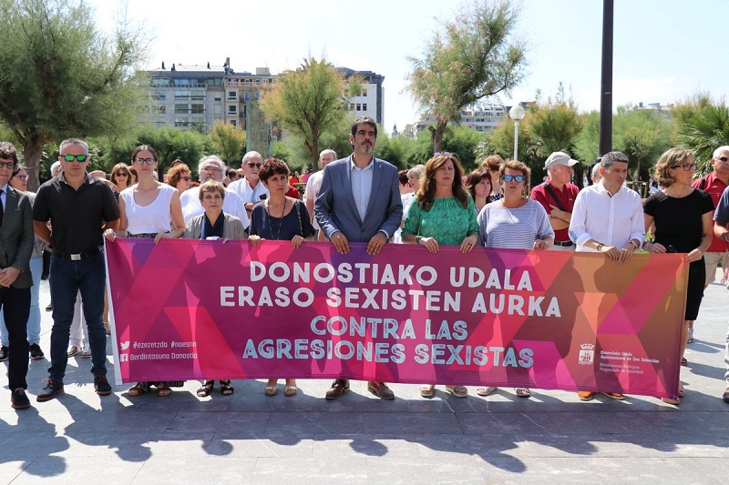 Movilización del pasado 3 de agosto contra la violencia machista. Foto: Diputación