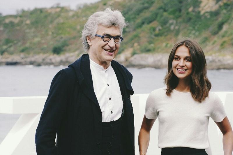 Wim Wenders y Alicia Vikander. Foto: Santiago Farizano
