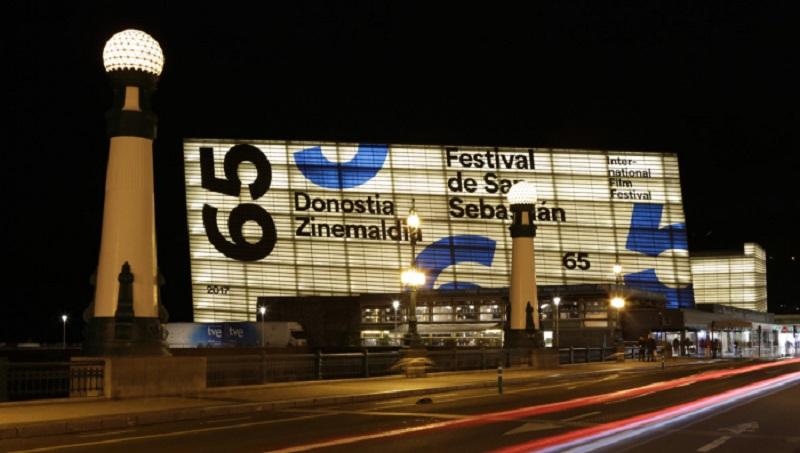Imagen del Kursaal durante el Festival de San Sebastián. Foto: Zinemaldia