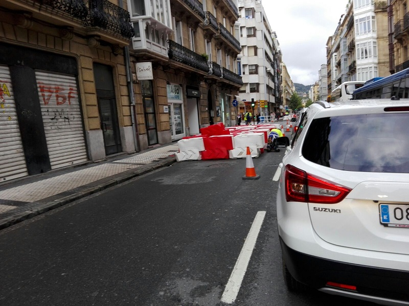 Fase anterior de las obras en la calle San Martín. Foto: Iñaki Hernáez
