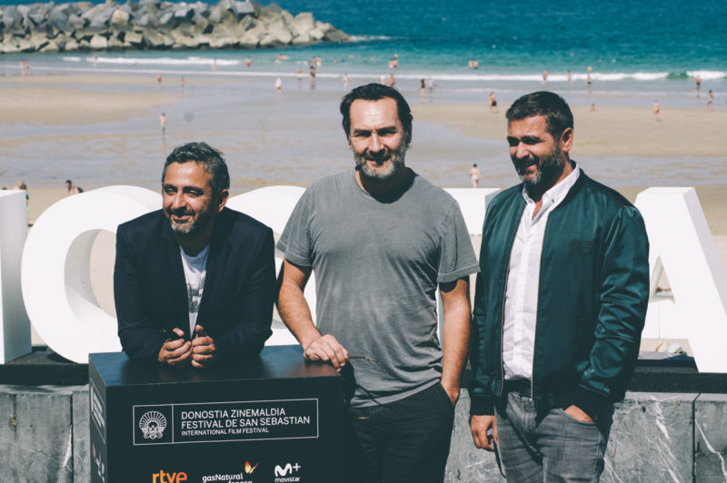 Olivier Nakache, Eric Toledano y Gilles Lellouche. Foto: Santiago Farizano