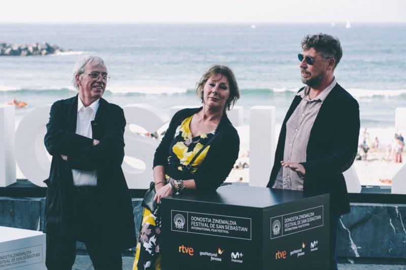 La juez Anne Gruwez, protagonista de la película con los directores Yves Hinant y Jean Libon. Foto: Santiago Farizano