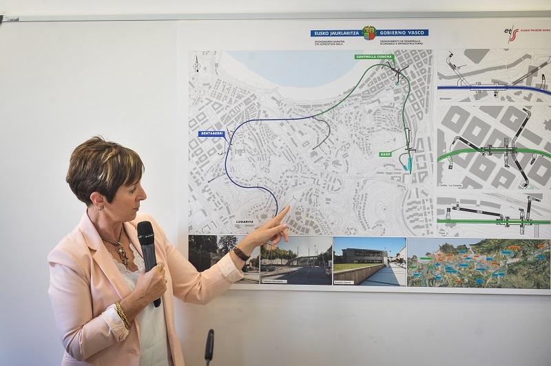 Tapia dando detalles sobre la obra el pasado año. Foto: Gobierno vasco