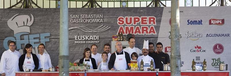 'Chef por un día' ayer en el Boulevard. Foto: Sn Sn Gastronomika