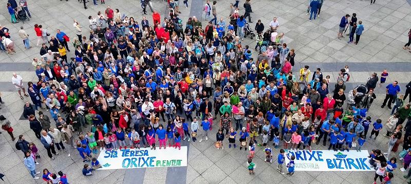 Una reciente protesta de la ikastola Orixe. Foto: Orixe