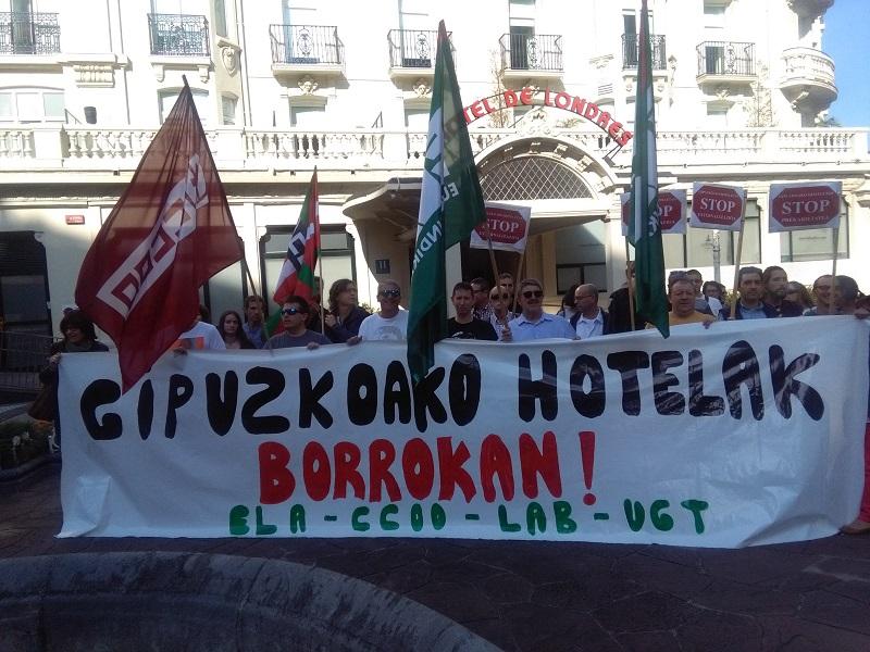 Protesta de los sindicatos el pasado octubre. Foto: A.E.
