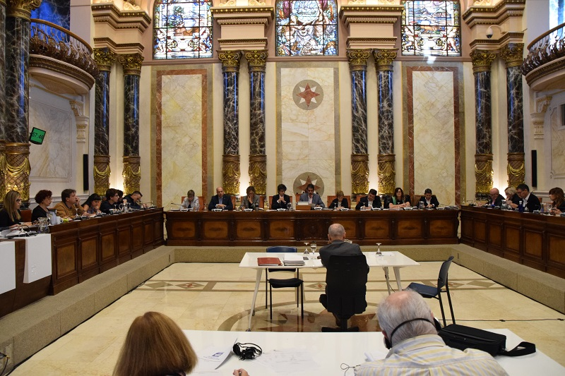 El Salón plenario del Ayuntamiento tendrá, esta vez, otra función. Foto: Ayto.