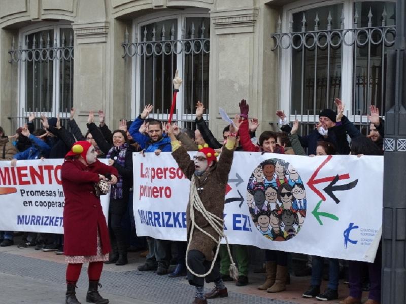 Reivindicación del 0,7 a las instituciones. Foto: Coordinadora de ONGD País Vasco