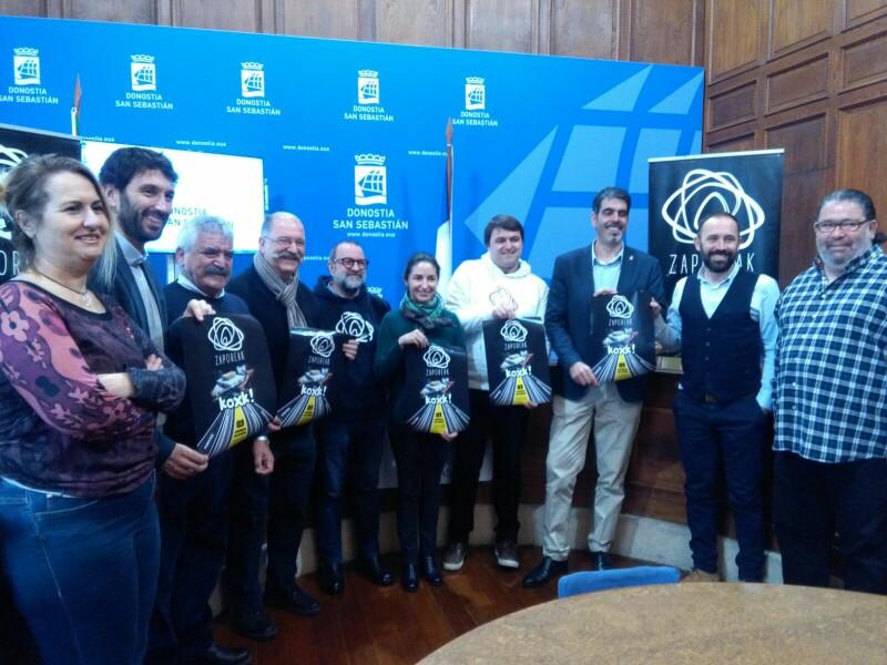 Presentación de la nueva cita de Zaporeak hoy en el Ayuntamiento. Foto: A.E.