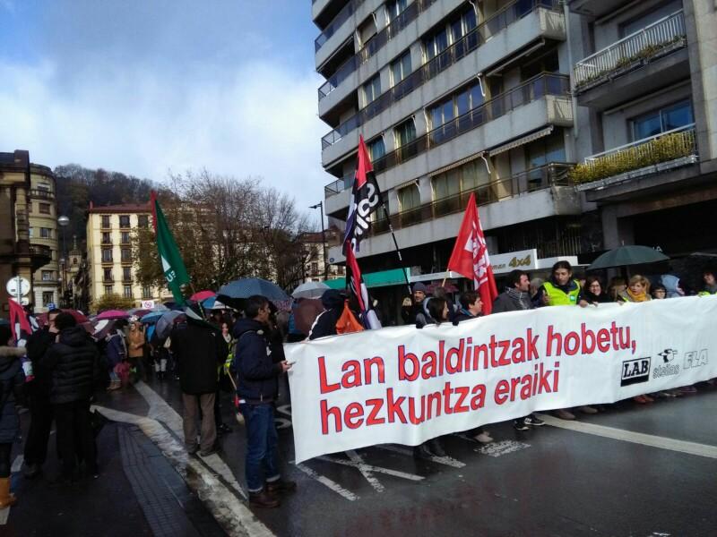 Manifestación el pasado 30 de noviembre durante una jornada de huelga en la Enseñanza. Foto: A.E.