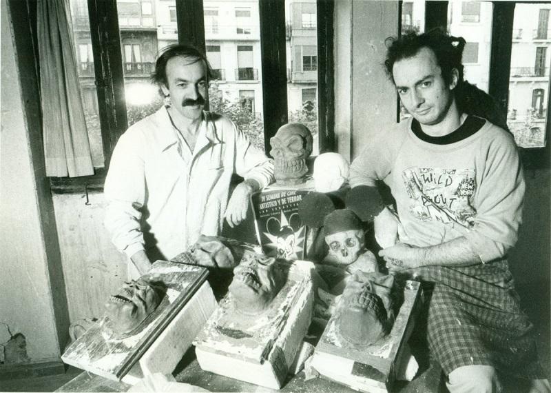 El escultor, a la izquierda. Foto: Semana de Cine Fantástico y de Terror