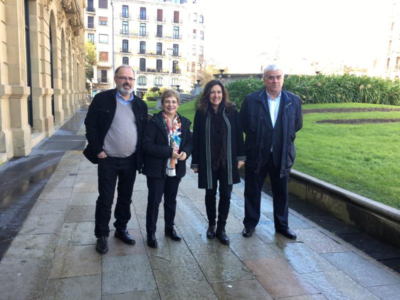 Miren Azkarate, Norka Chiapusso Andoni Olivares, y Marta Monfort. Foto: Donostia Kultura