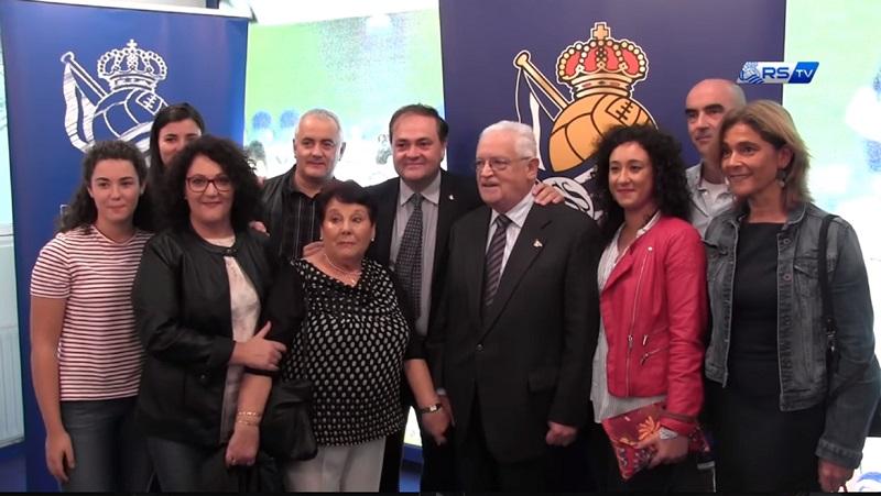 Homenaje de la Real Sociedad a Pizarro. Foto: Cimasub