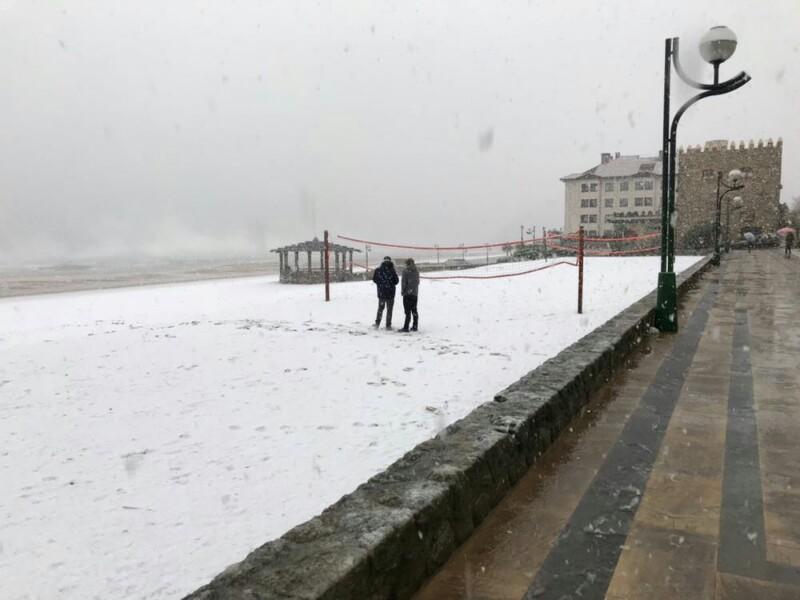 Playa de Zarautz, esta mañana. Foto: Iñigo Echave