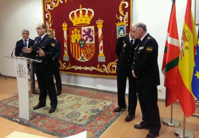 Imagen de la comparecencia, esta mañana, en la Subdelegación de Gobierno. Foto: A.E.