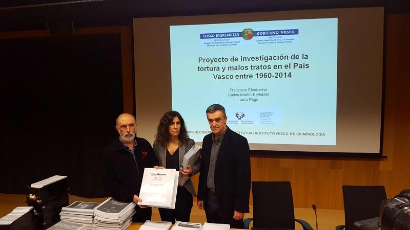 Presentación del informe sobre tortura. Foto: Gobierno vasco