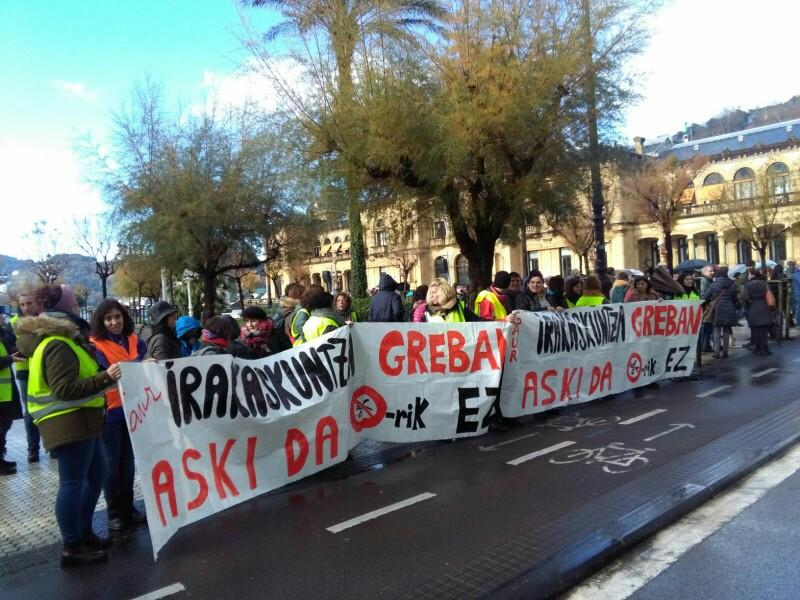 Manifestación durante la huelga del pasado 30 de noviembre. Foto: A.E.