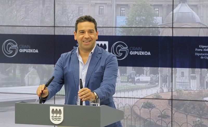 El diputado y portavoz del ente foral Imanol Lasa. Foto: Diputación