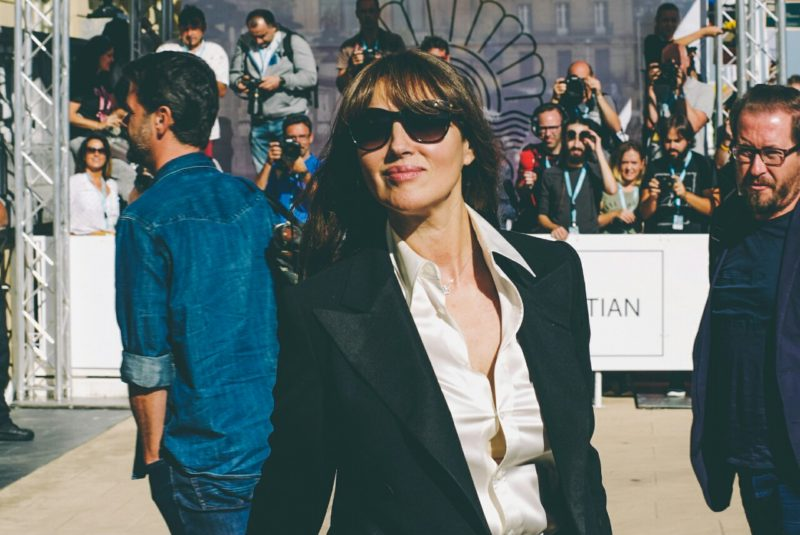 Monica Bellucci a su llegada en la pasada edición. Santiago Farizano