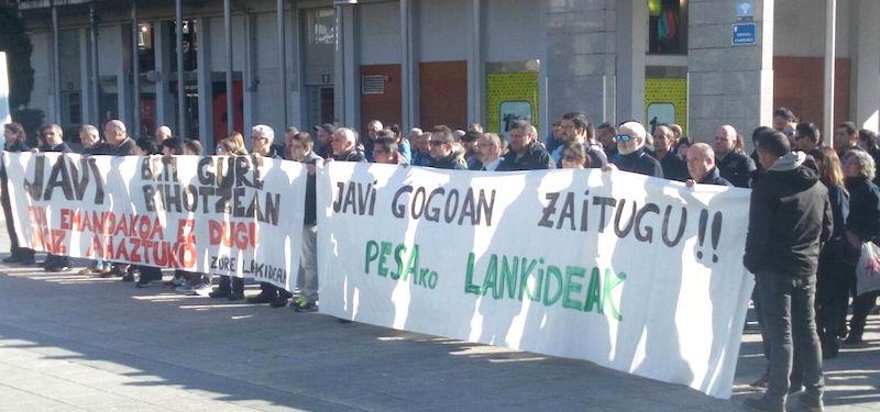 Imagen de la concentración. Foto: LAB