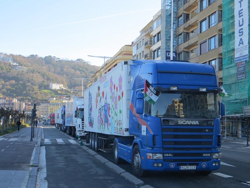 Imagen de la caravana el pasado año. Foto: Maite Berzosa