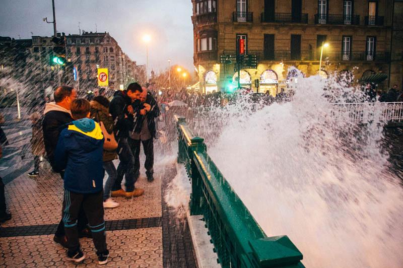 Imagen del temporal de la pasada semana. Foto: Santiago Farizano